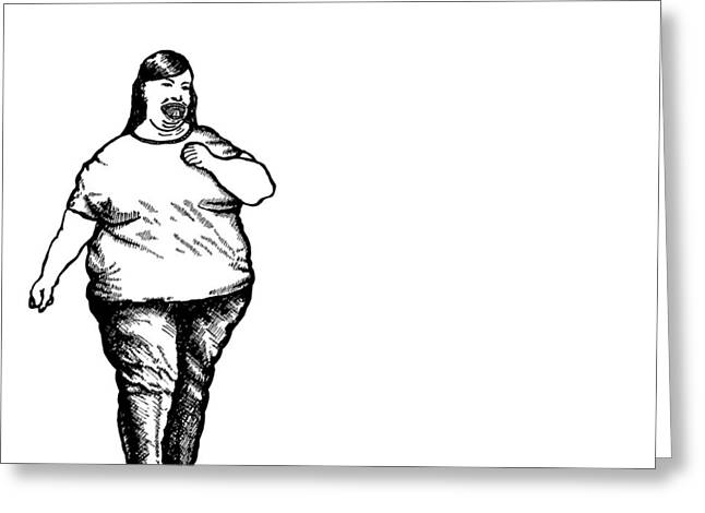 Large American Lady Greeting Card by Karl Addison
