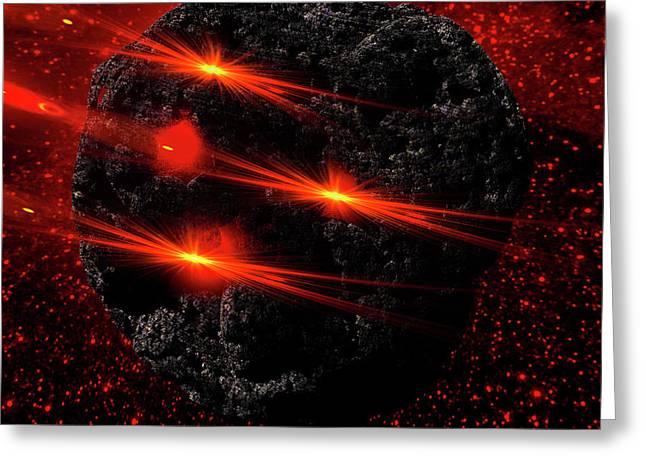 Large Asteroid Greeting Card by Ivanoel Art