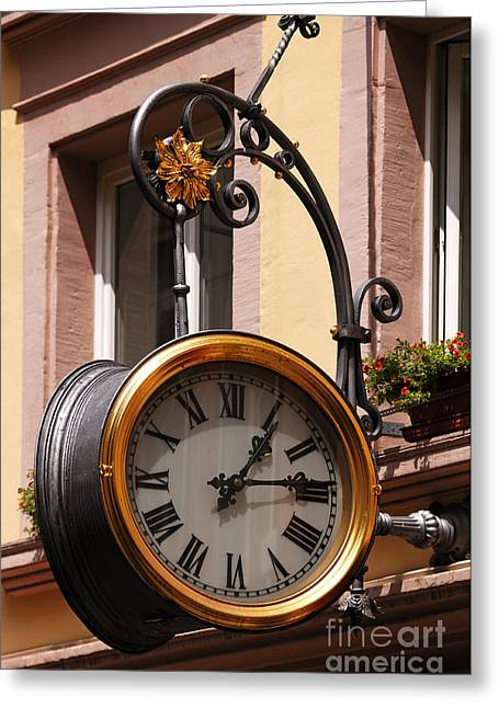 Large Clock Greeting Card by Helmut Meyer zur Capellen