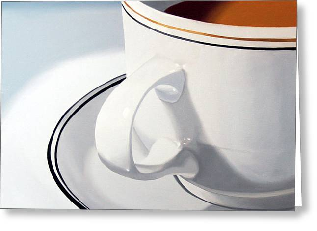 Large Coffee Cup Greeting Card by Mark Webster