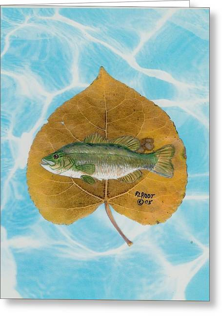 Large Mouth Bass #2 Greeting Card