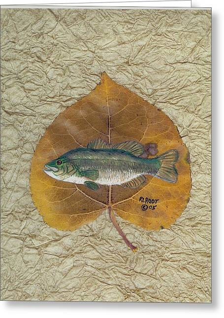 Large Mouth Bass #3 Greeting Card