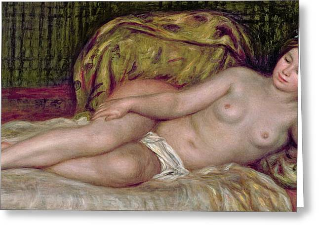 Large Women Greeting Cards - Large Nude Greeting Card by Pierre Auguste Renoir