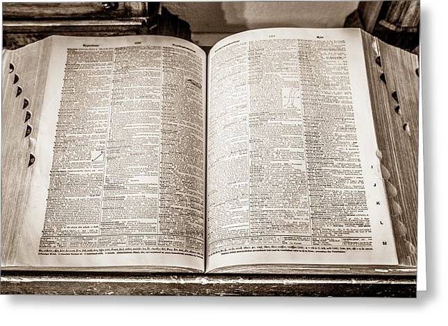 Large Old Dictionary Greeting Card by Marilyn Hunt