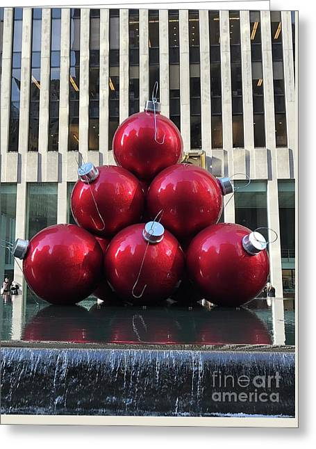 Large Red Ornaments Greeting Card