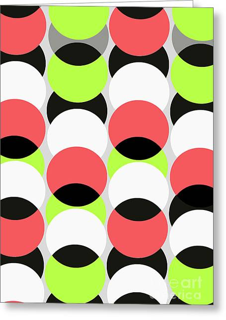 Large Spots Greeting Card by Louisa Knight