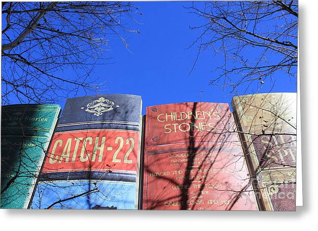 Larger Than Life Books Greeting Card by Kenzie Billings