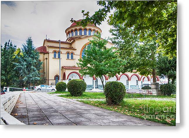 Larissa Old City Church Greeting Card by Jivko Nakev