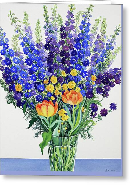 Larkspur And Delphiniums Greeting Card