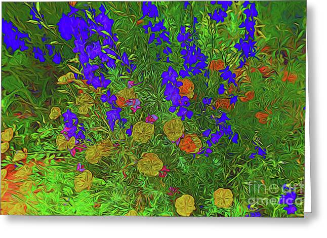 Larkspur And Primrose Garden 12018-3 Greeting Card