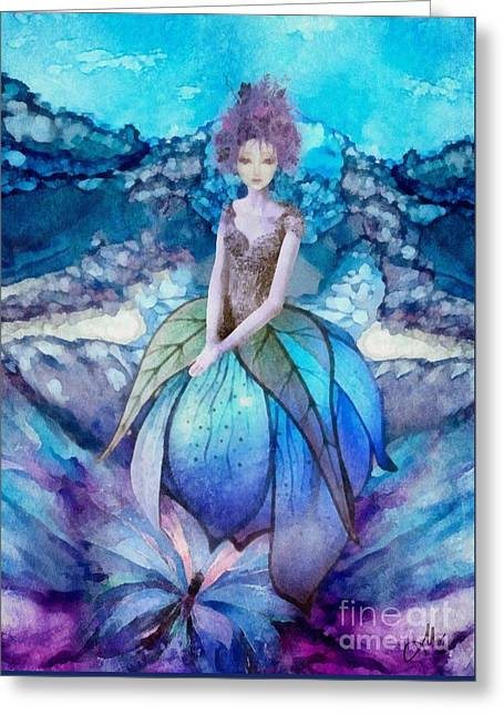 Greeting Card featuring the painting Larmina by Mo T