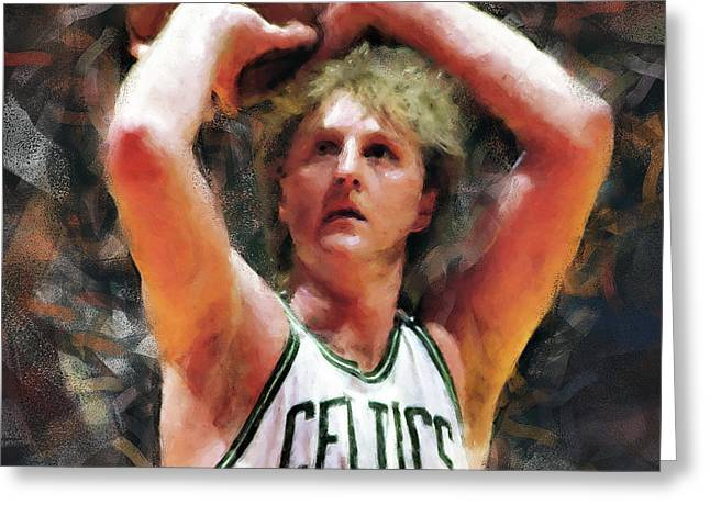 Larry Bird - 05 Greeting Card by Andrea Mazzocchetti