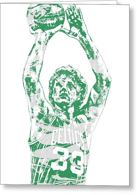 Larry Bird Boston Celtics Pixel Art 5 Greeting Card