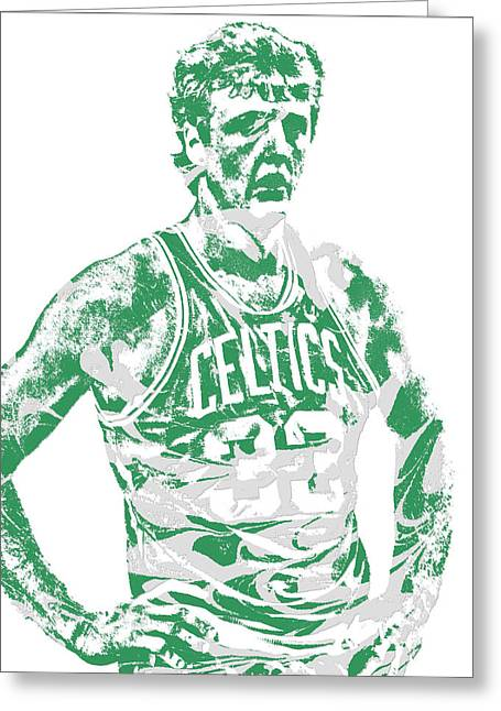 Larry Bird Boston Celtics Pixel Art 6 Greeting Card
