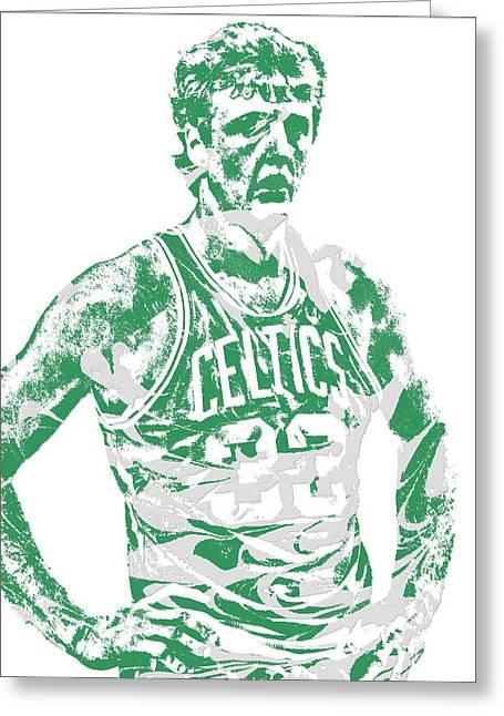 Larry Bird Boston Celtics Pixel Art 6 Greeting Card