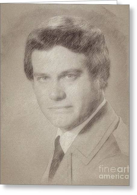 Larry Hagman, Actor Greeting Card