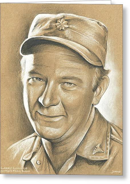 Larry Linville Greeting Card by Greg Joens