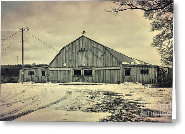 Larsen Road Barn Greeting Card by Joel Witmeyer