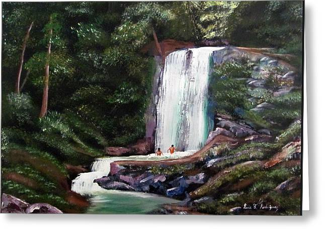 Las Marias Puerto Rico Waterfall Greeting Card by Luis F Rodriguez