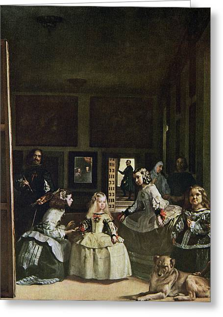Las Meninas By Diego Velazquez. From Greeting Card by Vintage Design Pics