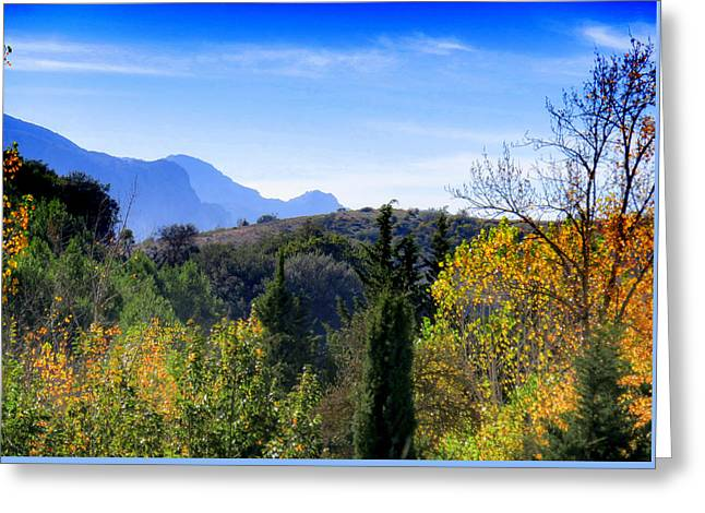 Las Pedrizas Mountains Greeting Card by J Darrell Hutto