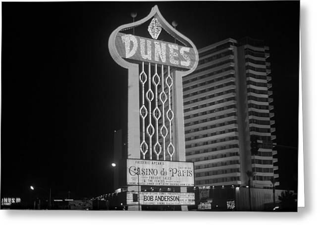Las Vegas 1980 Bw #2 Greeting Card