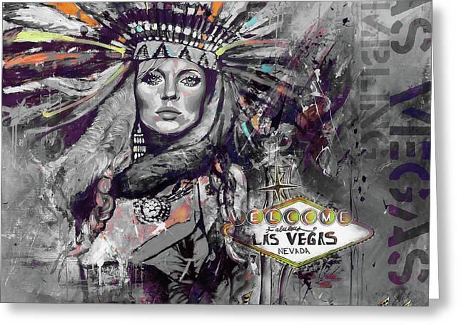 Las Vegas 88uy Greeting Card by Gull G