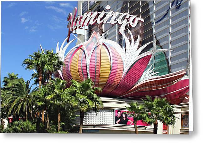Las Vegas Flamingo Hotel Lotus Blossom Greeting Card