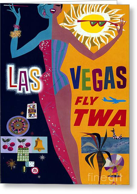 Las Vegas Fly Twa Poster Greeting Card by Science Source