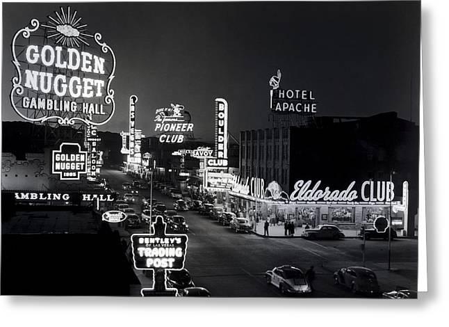 Las Vegas Fremont Street C. 1947 Greeting Card