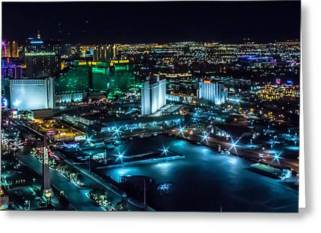 Las Vegas Looking North Greeting Card