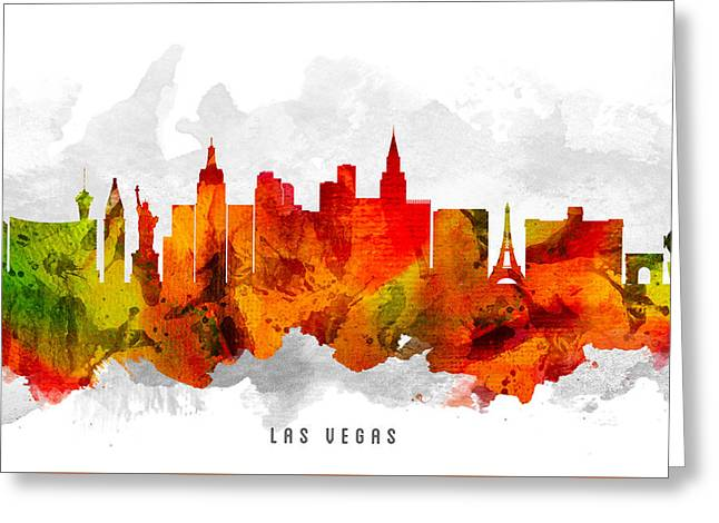 Las Vegas Nevada Cityscape 15 Greeting Card by Aged Pixel