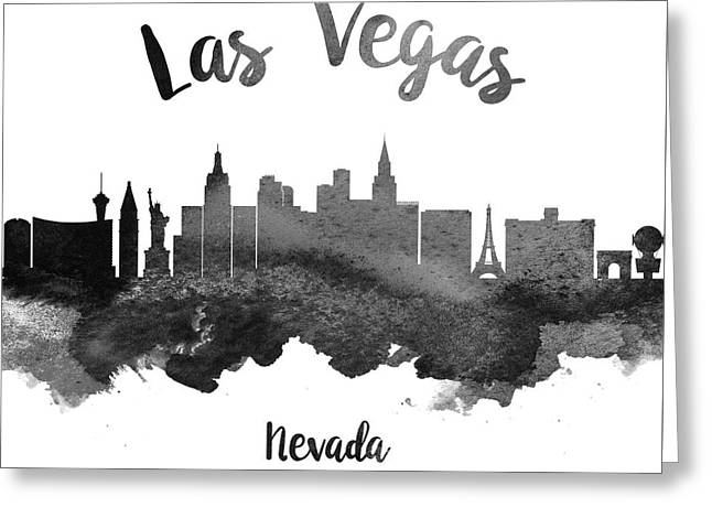 Las Vegas Nevada Skyline 18 Greeting Card by Aged Pixel