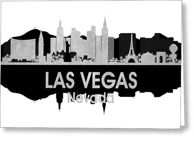 Las Vegas Nv 4 Squared Greeting Card by Angelina Vick