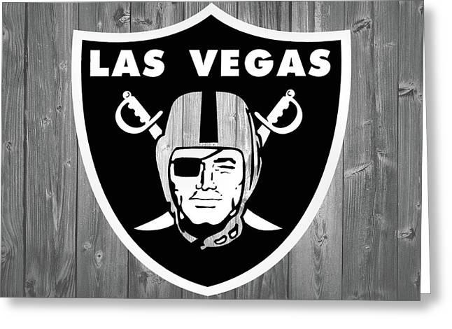 Las Vegas Raiders Barn Door Greeting Card