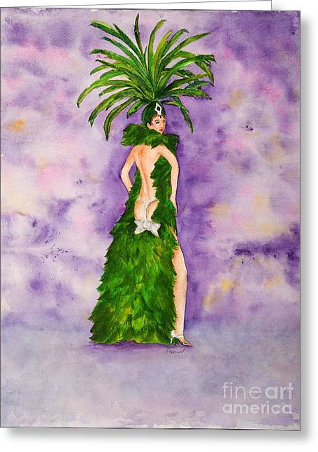 Las Vegas Show Girl Greeting Card