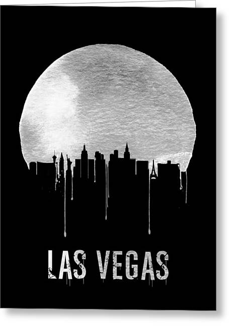 Las Vegas Skyline Black Greeting Card