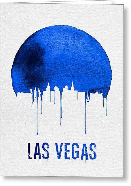 Las Vegas Skyline Blue Greeting Card