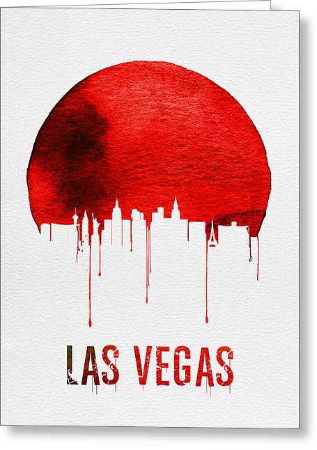Las Vegas Skyline Red Greeting Card
