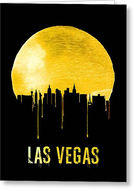 Las Vegas Skyline Yellow Greeting Card