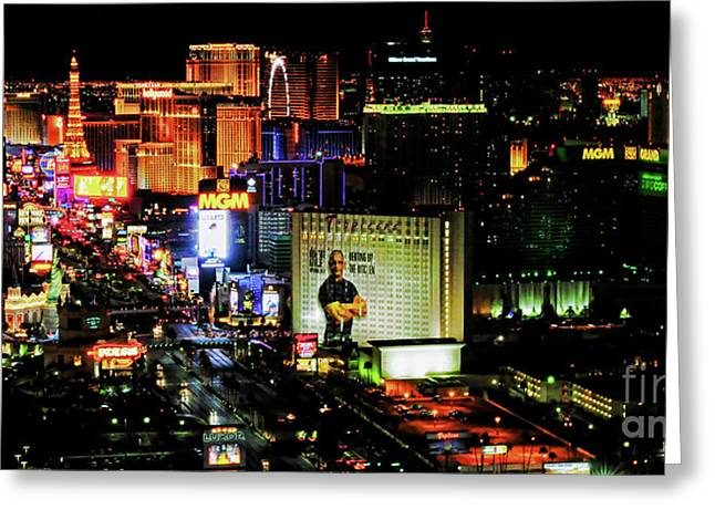 Las Vegas Strip 2016 Greeting Card by Jd Kline