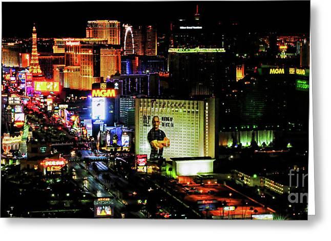Las Vegas Strip 2016 Painting Greeting Card by Jd Kline
