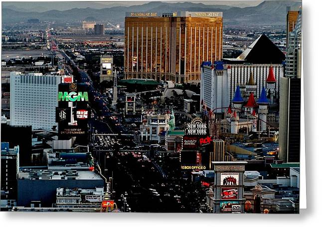 Las Vegas Strip Greeting Card