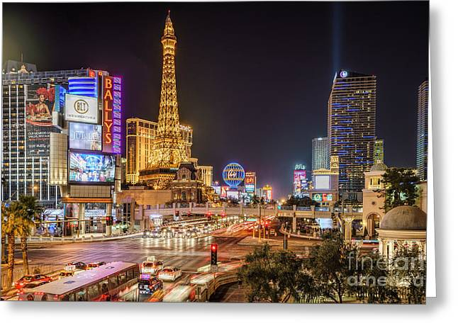 Las Vegas Strip Paris Greeting Card