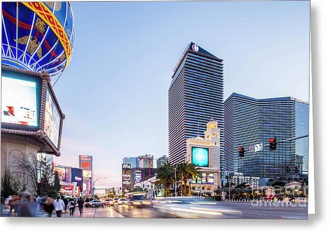 Las Vegas The Strip At Dusk  Greeting Card
