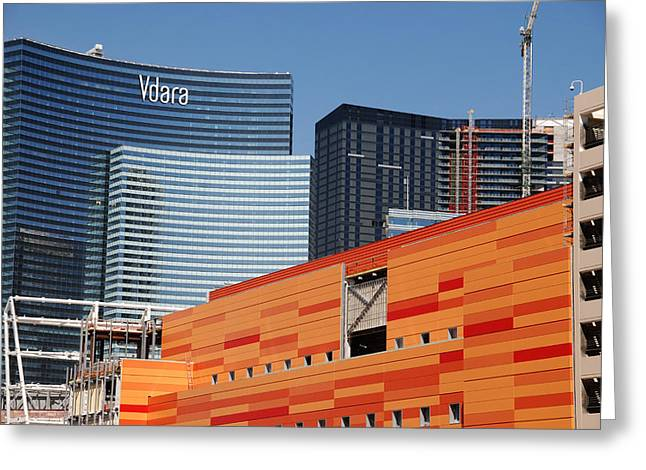 Las Vegas Under Construction Greeting Card by Susanne Van Hulst