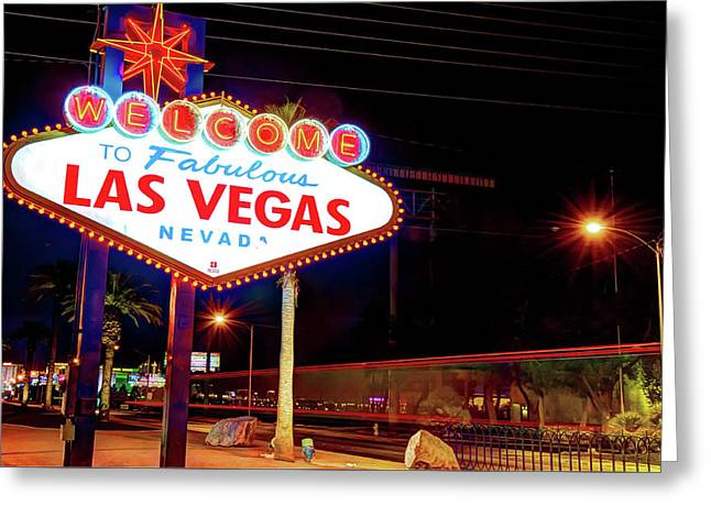 Welcome to america greeting cards page 2 of 4 fine art america las vegas welcome sign lights greeting card m4hsunfo