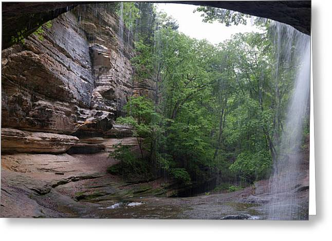 Lasalle Canyon Starved Rock State Park Greeting Card by Steve Gadomski