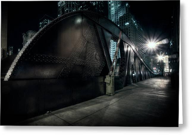 Lasalle Street Bridge - Chicago Greeting Card