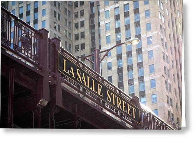 Lasalle Street Bridge - Chicago River Greeting Card